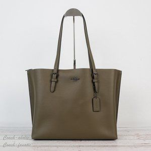 NWT Coach Leather Mollie Tote Shoulder Bag in Kelp